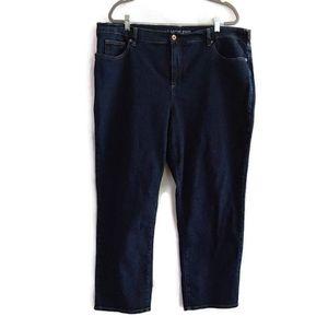Lands End Classic Fit 3 Straight Leg  Blue Jeans